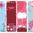 Set of Valentine's day banners 5 - Stock Vector