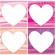 Royalty-Free Stock Vektorfiler: The Valentine card set.