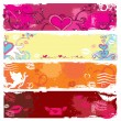 Stock Vector: Set of Valentine's day banners 4