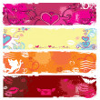 Set of Valentine's day banners 4 — Stok Vektör #1613300