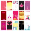 Valentine cards templates — Stock Vector #1613329