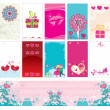 Vecteur: Valentine cards templates