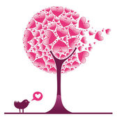 Valentine decorative tree — Stock Vector