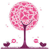 Valentine decorative tree 2 — Stock Vector