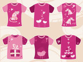 Valentine`s day t shirts design. — Stock Vector