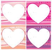 バレンタイン カード セット. — ストックベクタ