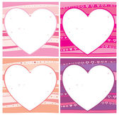 Walentynki karty zestaw. — Wektor stockowy