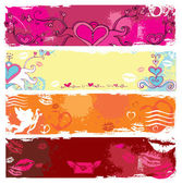 Set of Valentine's day banners 4 — Stock Vector