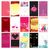 Valentine cards templates — Stock Vector