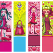 Valentine&#039;s Day  fashion banners - Grafika wektorowa