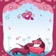 Stock Vector: Dachshunds love - Valentine