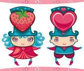 Sweet couple — Stock Vector