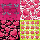 Valentine seamless backgrounds — Stok Vektör