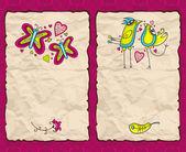 Valentine's Day paper backgrounds — ストックベクタ