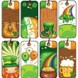 Price tags for the St. Patricks Day — 图库照片