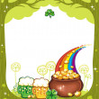 st. patricks day frame — Stock Photo