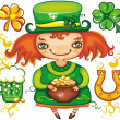 Stock Photo: St. Patricks Day leprechaun series 3