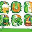 St. Patricks Day icon set series 2 — Stock fotografie