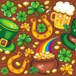 St. Patricks Day seamless background - Stock Photo