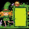 St. Patricks Day  floral frame — 图库照片