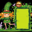 St. Patricks Day  floral frame — Εικόνα Αρχείου #2201121