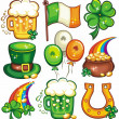 St. Patricks Day icon set series 2 — Stockfoto