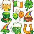 St. Patricks Day icon set series 2 — Foto Stock #2201165