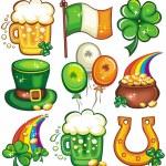 St. Patricks Day icon set series 2 — Stock Photo