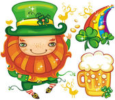 St. Patrick Day leprechaun series 4 — 图库照片