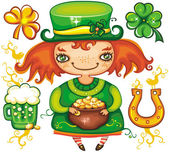 St. Patricks Day leprechaun series 3 — 图库照片