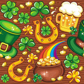 St. Patricks Day seamless background — Foto Stock