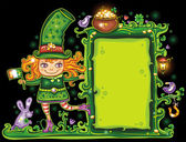St. Patricks Day floral frame — ストック写真