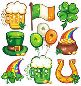 St. Patricks Day icon set series 2 — ストック写真