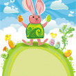 Easter greeting card. - Stock Photo