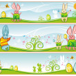 easter banners — Stock Photo