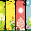 Easter banners with copy-space. - Stock Photo