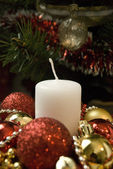 A Christmas Candle — Stock Photo