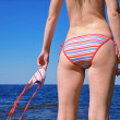 Girl near the sea in a bikini — Stock Photo #1220668