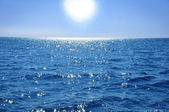 Blue sky and ocean — Stock Photo