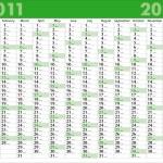 Calendar_2011 — Stock Vector