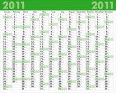 Calendar_2011 — Vecteur