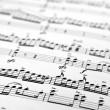 Fragment of the musical score, focus on one of rulers — Stock Photo #1233685