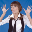 Royalty-Free Stock Photo: Naughty school girl