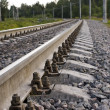 Railway. An outcome — Stock Photo