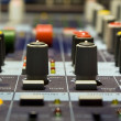 Stock Photo: Sound producer mixer. Regulators