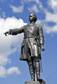 Historical monument to Tsar Peter the Gr — Stock Photo