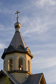Dome of an orthodox chapel on a evening — Stock Photo