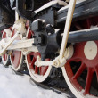 Wheels of an old steam locomotive — Stock Photo #1241080
