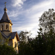 Orthodox chapel on a evening sky backgr — Stock Photo