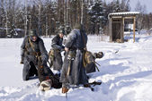 Soviet-Finnish war 1939-1940: marauders — Stock Photo